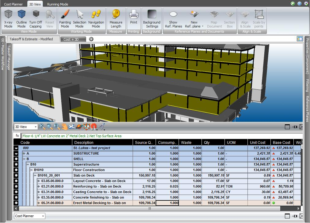 during all the project lifecycle. Figure 10 shown a sample of 5D BIM software while performing the cost management together with the 3D visualisation of the project. Furthermore, (Wang et al.