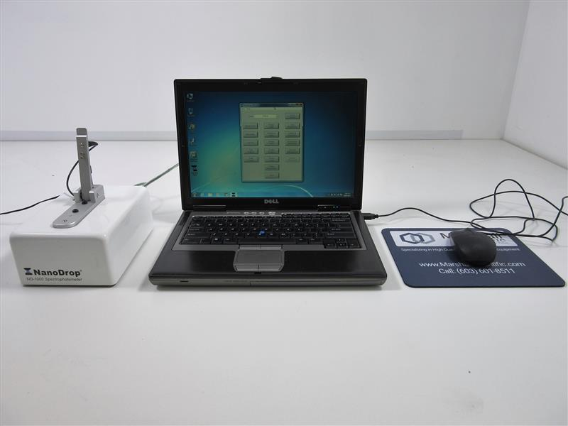 Fig. 16. The equipment needed for NanoDrop. A. Concentration and purity of samples by spectrophotometry This equipment can measure, without diluting, very concentrated samples.