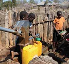 Yet with the use of an advanced water pump, Changara s communities can benefit from the water while also staying protected from cholera and other waterborne diseases.
