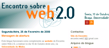 Blogue, YouTube, Flickr e Delicious: Software social - Sónia Cruz Blogue Criado em finais da década de 1990 por Jorn Barger (Barbosa & Granado, 2004), o Weblog, em português blogue, refere-se a um