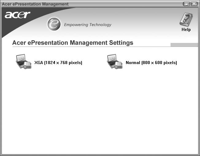 11 Acer epresentation Management O Acer epresentation Management permite-lhe