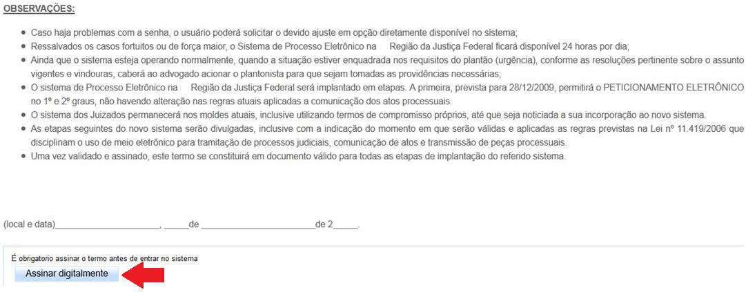 documento foi assinado