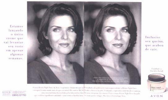 As marcas na pele, as marcas no texto 197 Figura 9: Renew Night Force, da Avon. Revista Marie Claire, abril de 1998.