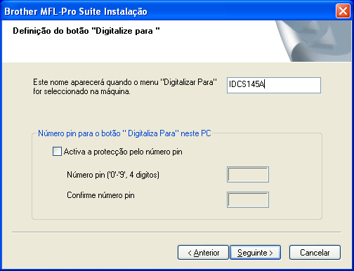 O nome predefinido é o nome do PC. Para os utilizadores do Windows 98/98SE/ Me/2000 siga o passo P.