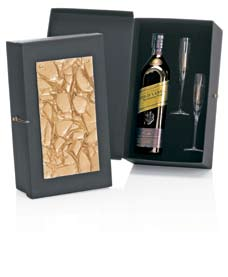 7038 1 Whisky Escocês Johnnie Walker Blue Label 1000ml 2 Taças Cristal Bohemia peso 2.