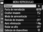 no menu  5 Marcar um item do