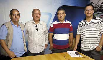 ), Rafael Estoco e Miguel Novaes TV Educativa/Morrinhos: