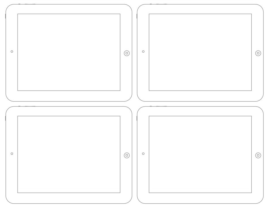 Wireframe Sketch Sheet - Web Browser