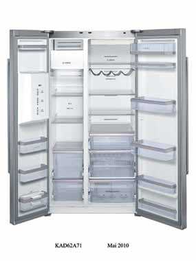 Side by Side NoFrost CoolSpace 23 KAD 62A71 - Inox com tratamento AntiDedadas Side by Side NoFrost CoolSpace PRVP c/iva 3.