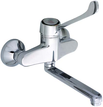 : 31611HPY monocomando de parede exp+ch/mn hospitalar hospital single lever exposed shower mixer ref.
