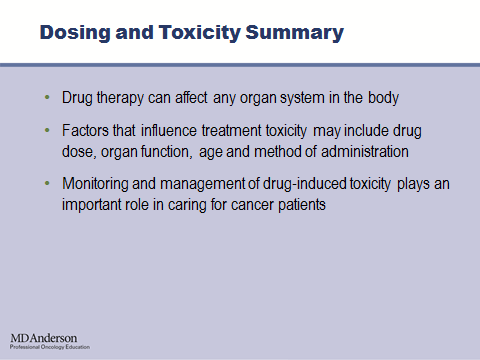 And monitoring and management of drug-induced toxicity requires a multidisciplinary approach. Resumindo, quanto à dose e toxicidade, os fármacos podem afetar qualquer sistema de órgãos do corpo.
