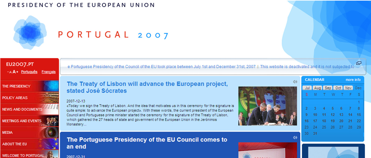 in Portugal Portuguese European Union Presidency 2007 www.eu2007.