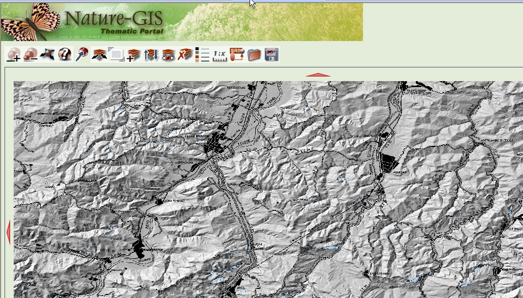 Figura 15 - Portal temático do Nature-GIS. Fonte: http://www.naturegis.net/ionicwrsclient/geoviewer/index.jsp?contextvalue=http://www.gisig.it/nature- GIS/usecases/contexts/bologna.xml.