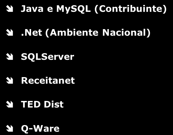 Software Requisitos Técnicos Ambiente Nacional SEFAZ Contribuinte Java e