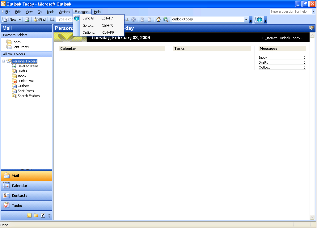 6 Funambol Plugin at Microsoft Outlook With the funambol plugin, The Microsoft