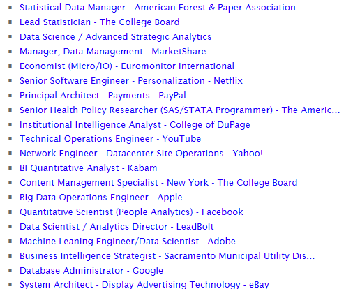 Job offers in