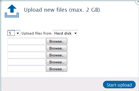 3. Upload Files and create new folders First of all, please select a user. Click on the small arrow in the directory tree. You can now upload files directly to this directory/folder.