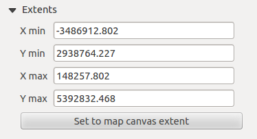 Figura 18.4: Map Item properties Tab properties, you can update the print composer view selecting the map element in the print composer and clicking the [Update preview] button.