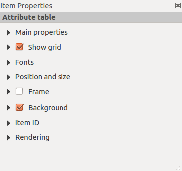 Figura 18.22: Arrow Item properties Tab Main properties For Basic shapes, this dialog allows you to choose a Ellipse, Rectangle or Triangle shape and its rotation.