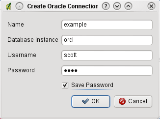Oracle Spatial GeoRaster dialog window.