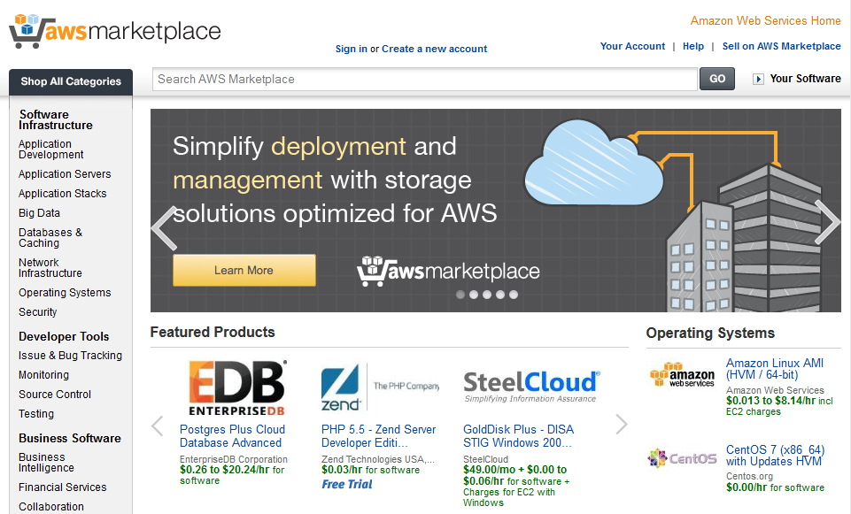AWS Marketplace sftware Launch sftware n AWS with 1-click Pay-by-the-hur, mnthly, r annual Single invice fr AWS usage &