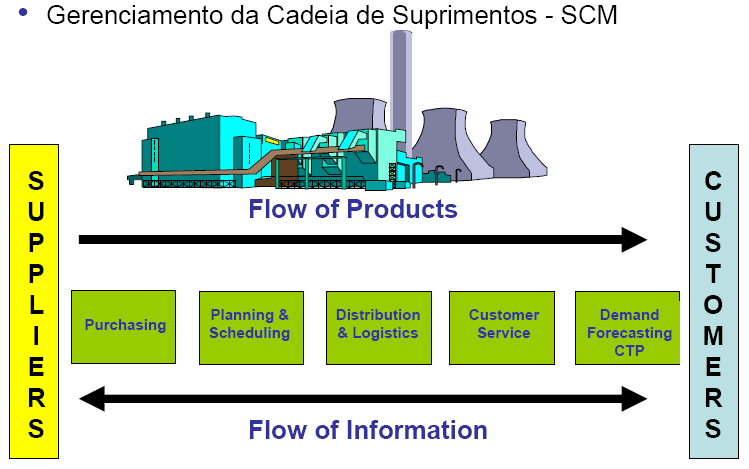 Campos de Atuação SCM: Supply Chain Management Fonte: