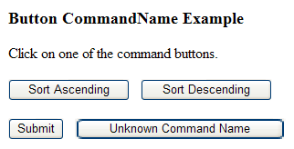 <h3>button CommandName Example</h3> Click on one of the command buttons.
