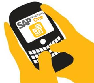 Background da Tecnologia - SAP Business One Mobility Mobile capabilities based on the integration framework of SAP Business One Conectando aplicativos móveis com o SAP Business One, disponível à