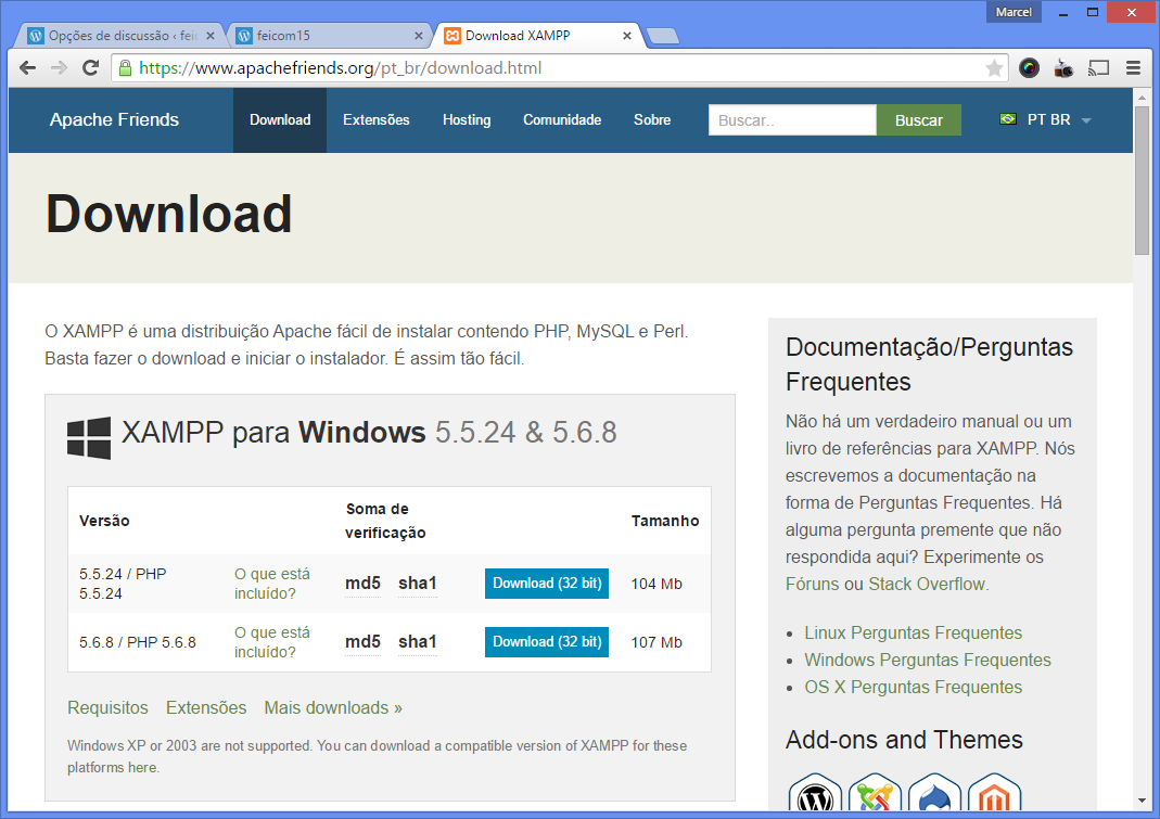 Instalando o Wordpress local 1.