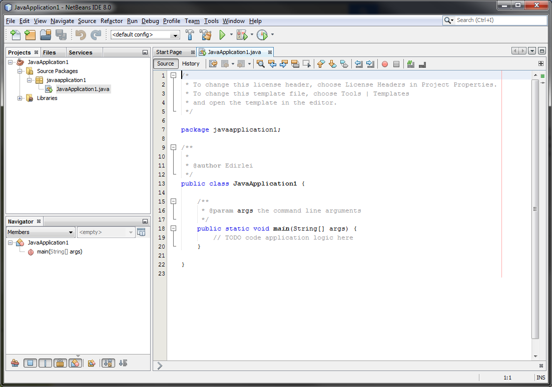 IDE Java Integrated Development Environment