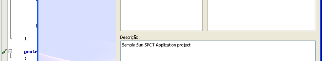 Figura 6 Netbeans e o plugin do Sun SPOT 3.