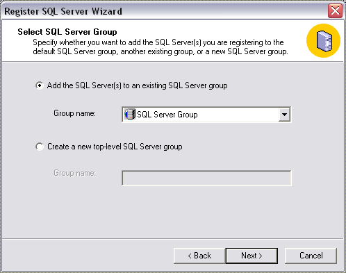 Figure 3 SQL Server registration Figure 6 Select SQL Server Authentication Figure 4 SQL Server registration wizard Figure 7 Select
