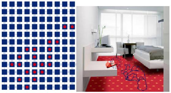 Smart Carpet : A Textile-based Large-area Sensor Network