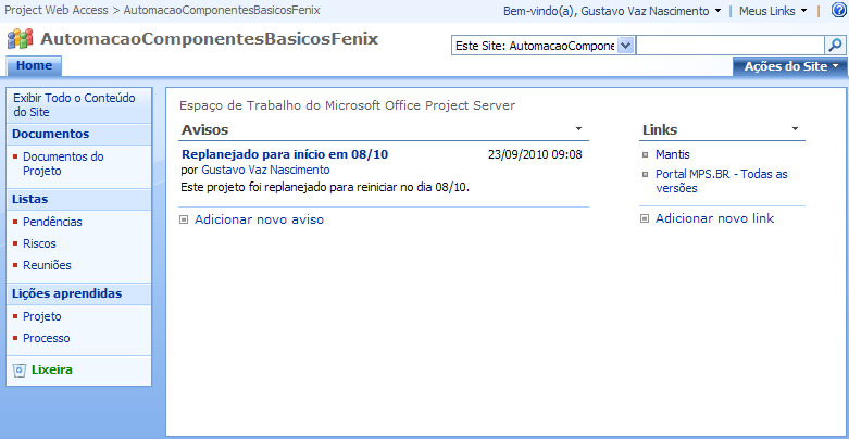 Sharepoint X Project Server - Demonstração
