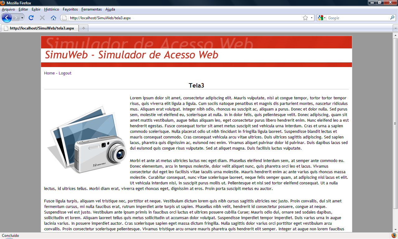 Figura 33: Tela 3 do SimuWeb 4.5.