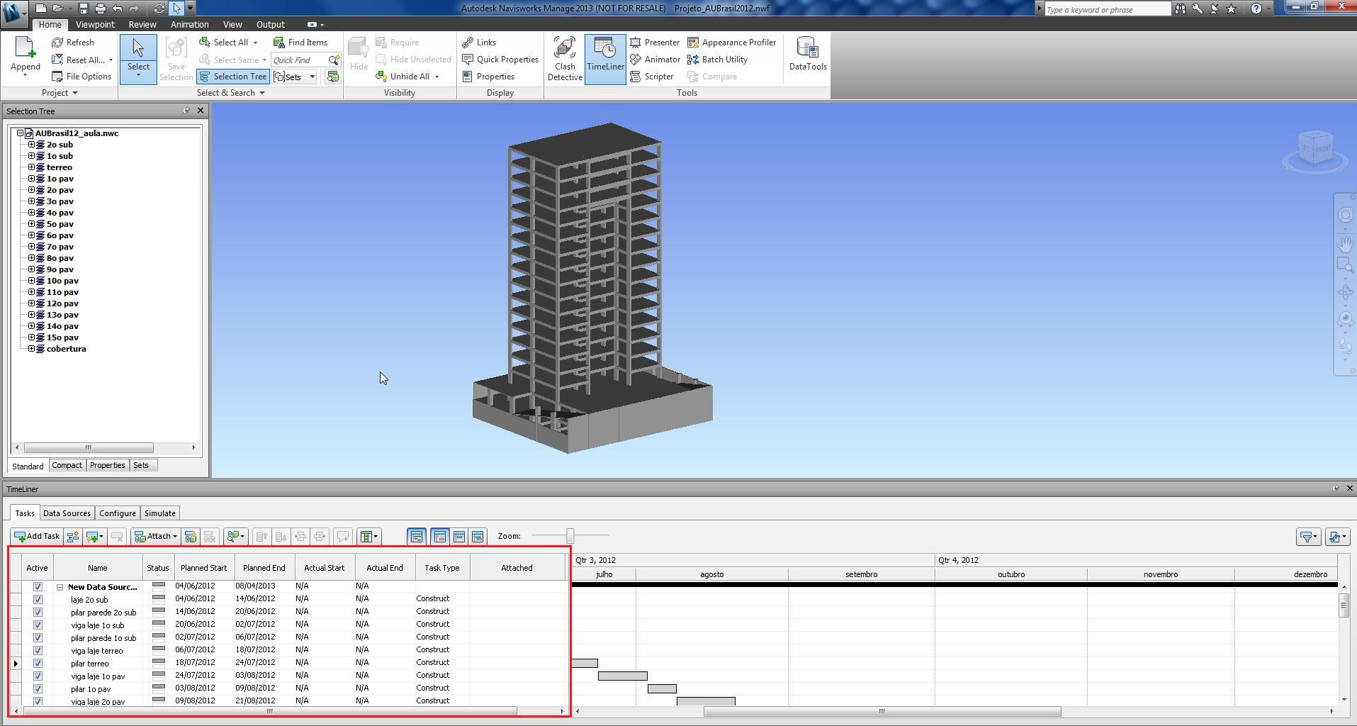 com o mesmo nome das Selection Tree, Phase Created ou Selection Sets do Navisworks.
