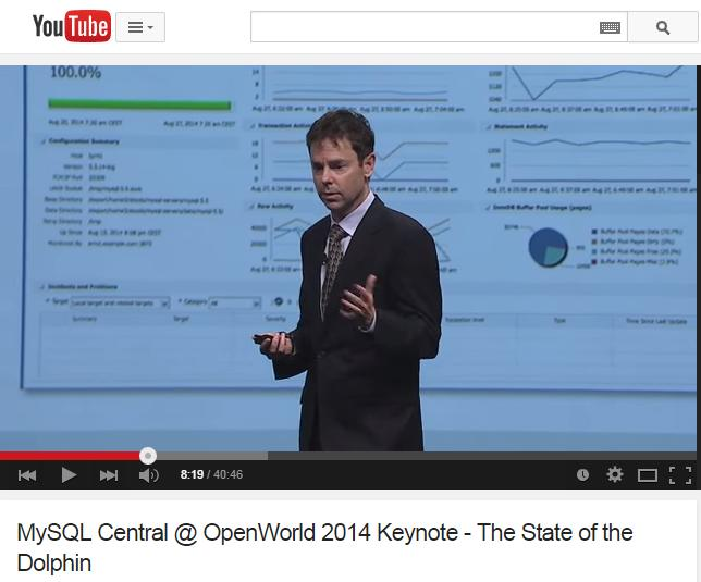 Edward Screven & Tomas Ulin no Open World 2014 Oracle Chief Corporate