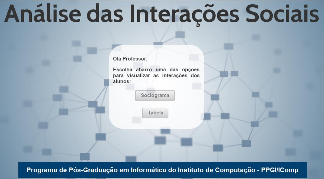 Capítulo 5 Implementação do Sistema Figura 39. Interface Inicial do Sistema.
