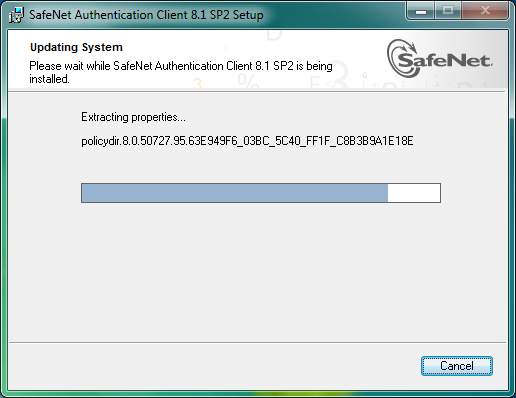 7ª Etapa Instalando o Safenet Authentication Client 8.