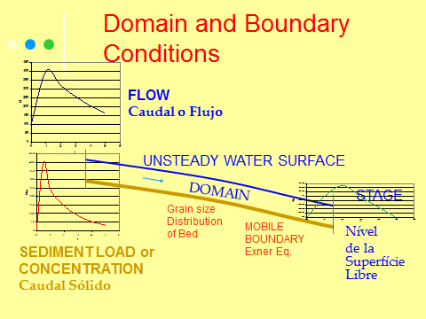 o Erosion and deposition o Bed Continuity (Exner Equation) o Bed friction coefficient (Bed forms function). Banks and Flood Plain o Vegetation induced roughness as a function time.