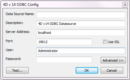 "Configuring your DSN The fields of these dialog boxes need to be filled in with the following information: Data Source Name: Enter a unique name for this Data Source. Default: """"."