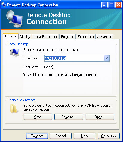 2.2.12. Remote Desktop Connection, Versão 6.0 57.