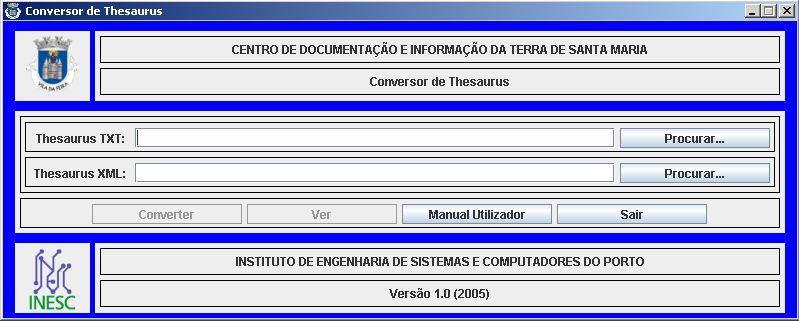 334 XATA 2006 XML, Aplicações e Tecnologias Associadas in the annotation dialect. This tool only requires the path of the original file and the path for the new file as shown in Figure 6.