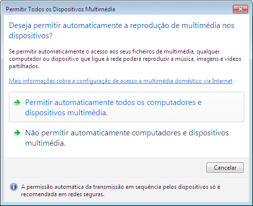 4. Usar o visualizador Configurar o Media Sharing no Windows Media Player 12 1. Iniciar o Windows Media Player 12. 2.