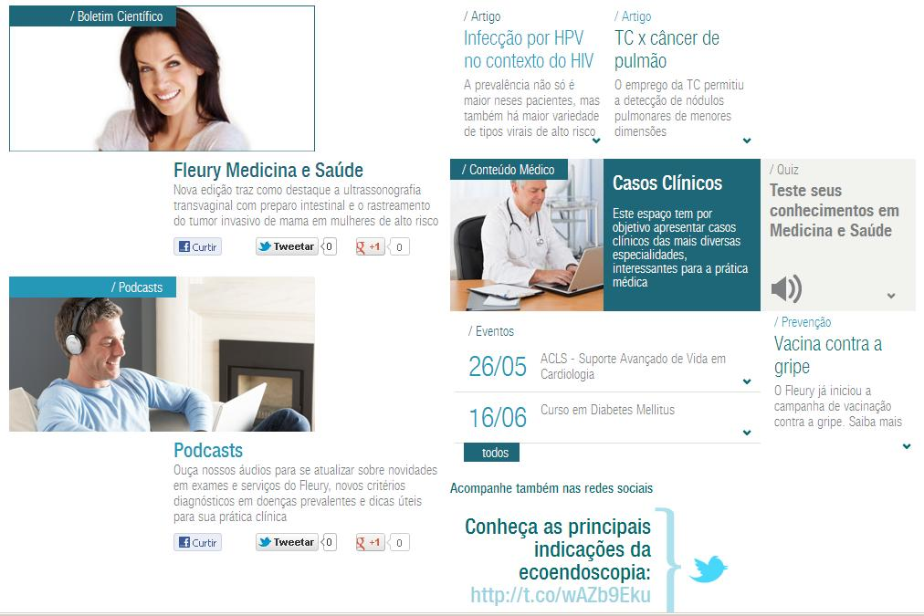 Pageviews Medical Portal Fleury Website Site Fleury Fleury: Website: Área Medical