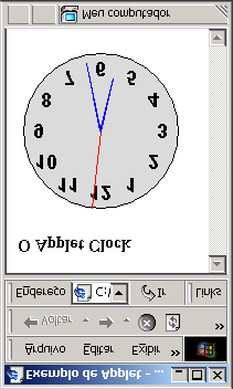 "<html><head><title>exemplo de Applet</title></head> <body> <h3>o Applet Clock</h3> <applet codebase=""applets/clock/classes"" code=""javaclock."