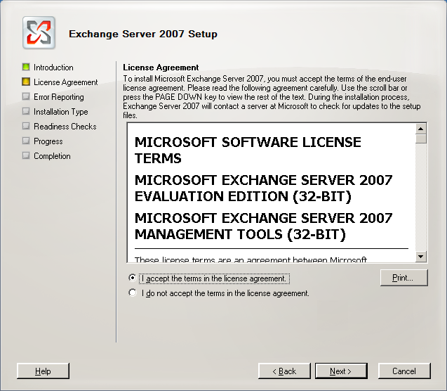 License Agreement.