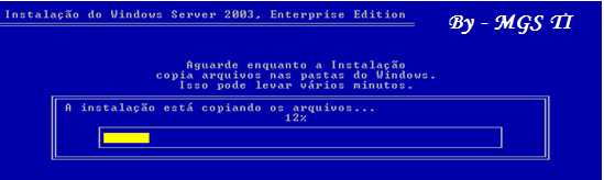 1 - Insira o CD do Windows Server 2003 no drive de CD ROM e siga os passos