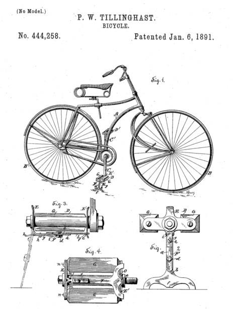 Pedals invented by Pierre Michaux and Pierre Lallement, two Frenchmen in the 1860s.