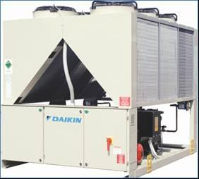 Chillers de condensação a ar Daikin Flagship AC Inverter Screw chiller (EWAD-TZ) 200 700kW cooling capacity In-house designed screw compressor with
